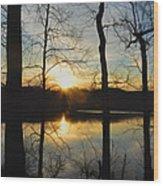 Sunrise Along The Delaware River Wood Print