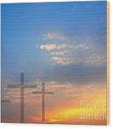 Sunrise And Easter Theme Wood Print