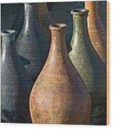 Sunrise And Pottery Wood Print
