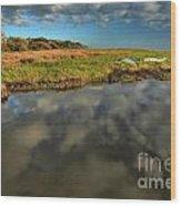 Sunrise At Brooks Island Refuge Wood Print