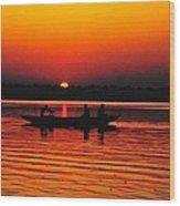 Sunrise At Indian Sea  Wood Print