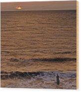 Sunrise At Jacksonville Wood Print by Joe Bonita