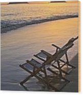 Sunrise At Lanikai Wood Print
