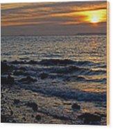Sunrise At Mt Loretto Beach Wood Print