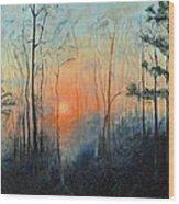 Sunrise At Pike Road Wood Print