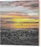 Sunrise At Sea 2 Wood Print