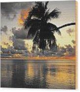 Sunrise At Sea 3 Wood Print