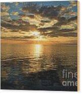 Sunrise At The Banks Wood Print