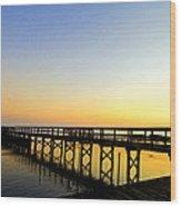 Sunrise At The Marina Wood Print