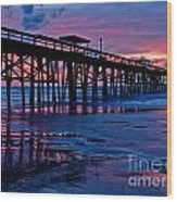 Sunrise At The Pier 2 Wood Print
