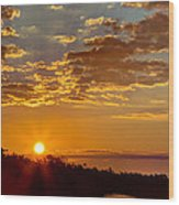 Sunrise Bayou Wood Print