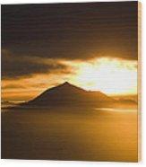 sunrise behind Mount Teide Wood Print