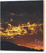 Sunrise Burning Wood Print
