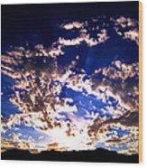 Sunrise Wood Print by Catherine Natalia  Roche