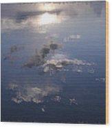 Sunrise Cloud Reflections Wood Print