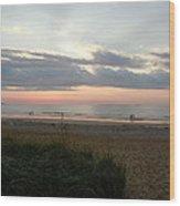 Sunrise Colors Of Maine Wood Print