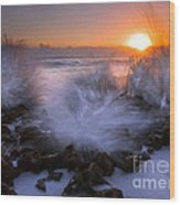Sunrise Explosion Wood Print