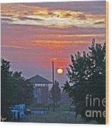 Sunrise From Backyard Wood Print
