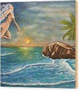 Sunrise Goddess Wood Print