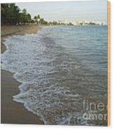 Sunrise In Isla Verde Puerto Rico Wood Print