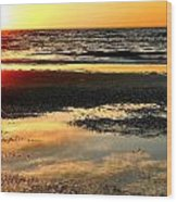 Sunrise In Jekyll Island Wood Print