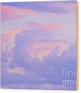 Sunrise In Pastels Wood Print