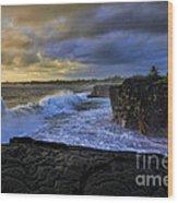 Sunrise Near Hilo Hawaii Wood Print