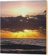 Sunrise Obx Wood Print
