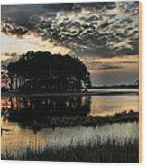 Sunrise On Assateague Wood Print