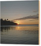 Sunrise On Superior Wood Print