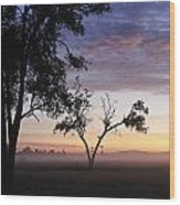 Sunrise On The Masai Mara Wood Print