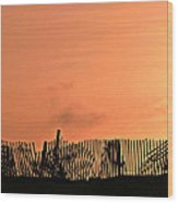 Sunrise On The Outer Banks Wood Print