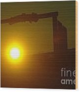 Sunrise On The Sage Ranch  Wood Print