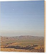 Sunrise On The Sierra De Las Quijadas Wood Print