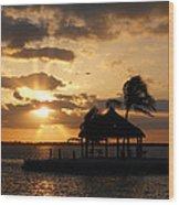 Sunrise Over Bay Wood Print