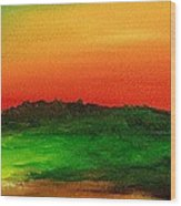 Sunrise Over Cane Field Wood Print
