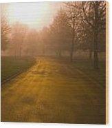 Sunrise Over Country Road, Oregon Wood Print
