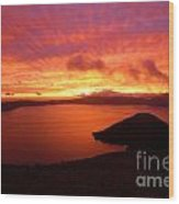 Sunrise Over Crater Lake Wood Print