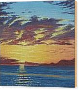 Sunrise Over Gonzaga Bay Wood Print