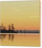 Sunrise Over Lake Wood Print by Patti White Photography