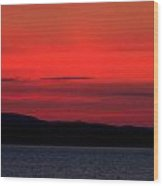 Sunrise Over Mallets Bay Colchester Vermont Wood Print