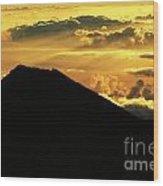 Sunrise Over Maui Wood Print