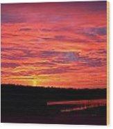 Sunrise Over Miller Bay Wood Print