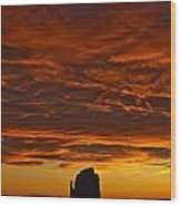Sunrise Over Monument Valley, Arizona Wood Print