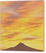 Sunrise Over Mount Hood, Portland Wood Print