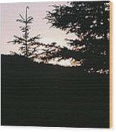 Sunrise Over Mt Still Wood Print