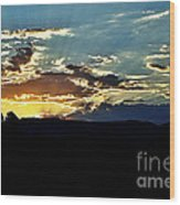 Sunrise Over Sedona Az Wood Print
