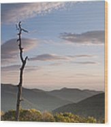 Sunrise Over Shenandoah National Park  Wood Print