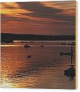 Sunrise Over Southwest Harbor Wood Print