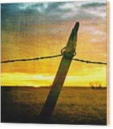 Sunrise Over The Prairie Wood Print